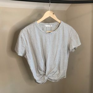 Lush: Twisted Front Short Sleeve Crop-Top